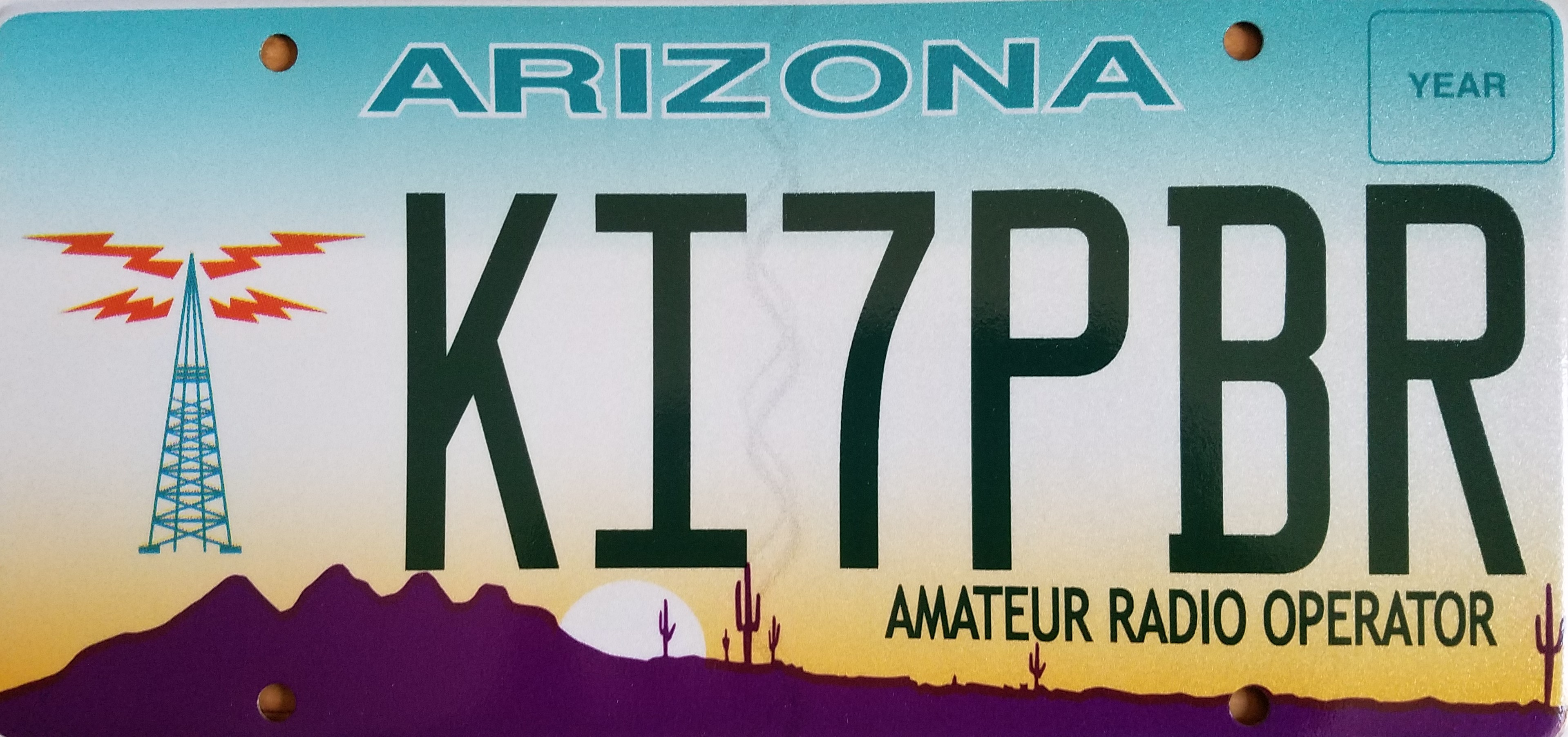 Arizona Amateur Radio Operator Plate