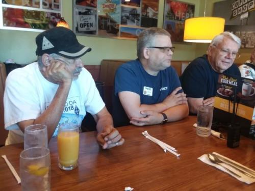 CHRC Club Breakfast - Ray, Byon, Norm (left to right)